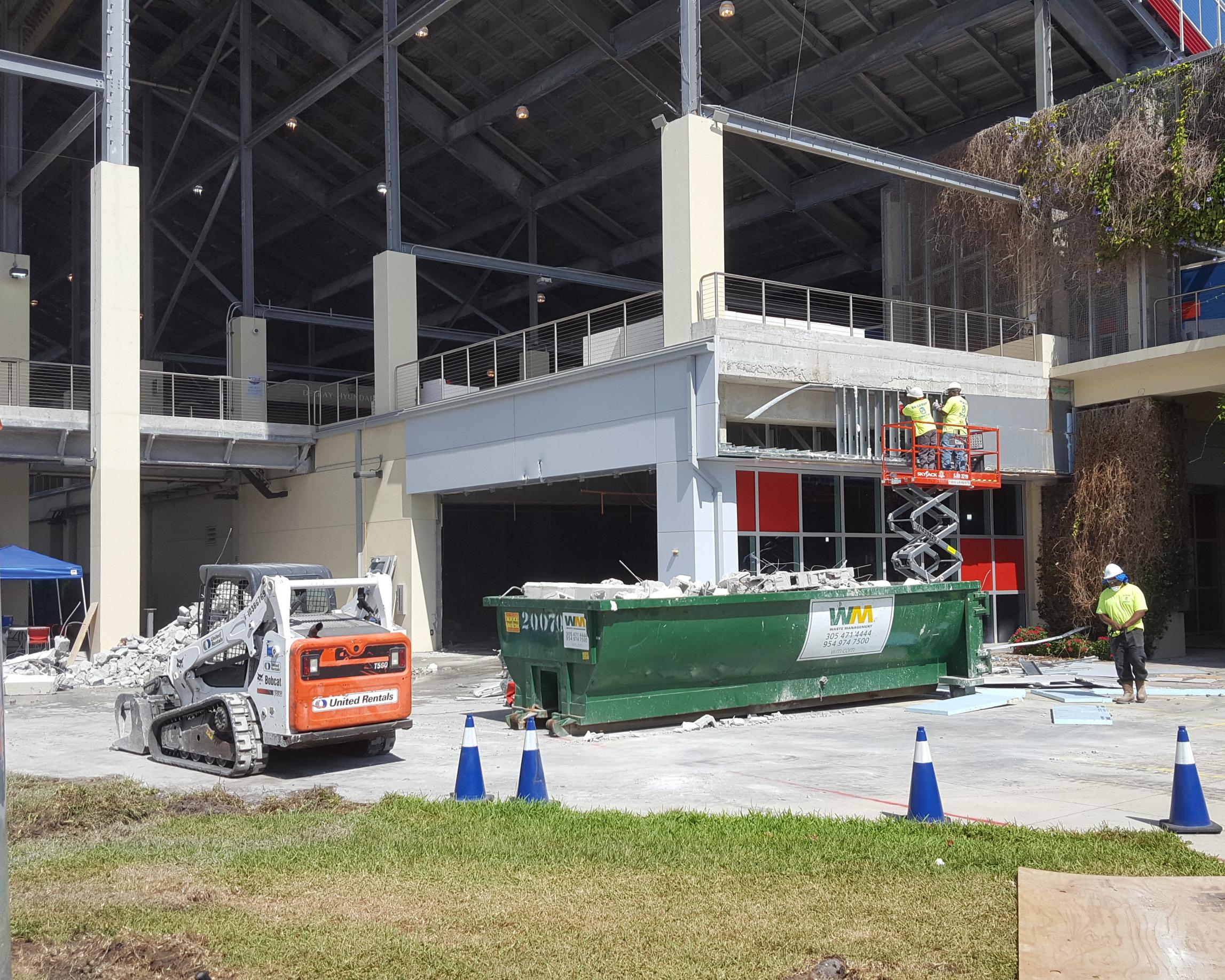 stadium demolition